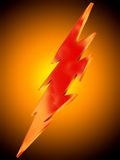 Lightning icon on orange background Stock Photos