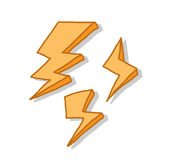 Lightning Icon Set Royalty Free Stock Photos