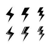 Lightning icon Royalty Free Stock Photos