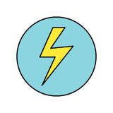 Lightning Icon Vector Illustration in Flat Design Royalty Free Stock Photo