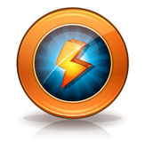 Lightning Icons Badge For Game Ui Royalty Free Stock Image