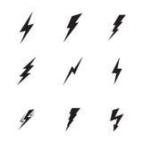 Lightning icons set Stock Image