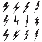 Lightning icons Stock Photo
