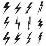 Lightning icons Stock Photo