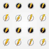 Lightning icons vector concept set Stock Photo