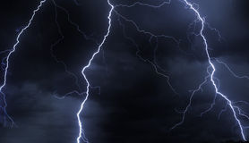 Free Lightning In Stormy Sky Royalty Free Stock Photography - 3407017