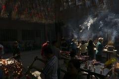 Lightning incense in Thien Hau Temple, Ho Chi Minh, Vietnam Stock Image