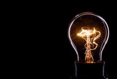 Lightning inside a glass bulb Stock Image