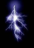 Lightning _isolated_blue Stock Image