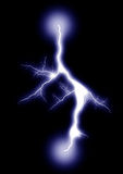 Lightning _isolated_blue_2 Stock Photography