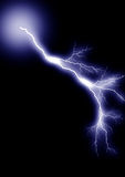 Lightning _isolated_blue_3. Lightning strike. Isolated black background. Created Photoshop Stock Image