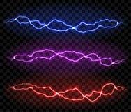 Free Lightning Isolated On Black Background Royalty Free Stock Images - 159353709