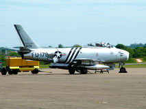 f-86 sabre jet fighter stock photography