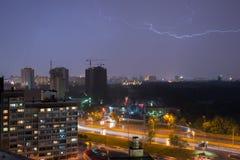 Lightning in Kiev Stock Photo