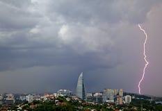 Lightning in Kuala Lumpur Royalty Free Stock Photo