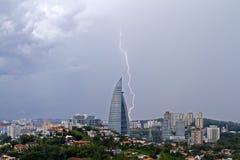 Lightning in Kuala Lumpur City Royalty Free Stock Photo