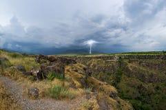 Lightning landscape Stock Photos