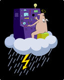 Lightning machine. Artistic vector illustration stock illustration