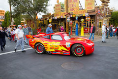 Lightning McQueen in Cars Land Stock Photography