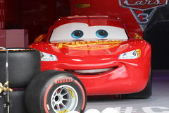 Lightning mcqueen. Disney Pixar car in Cars 3 Royalty Free Stock Photo