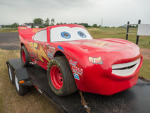 Lightning McQueen Stock Car on trailer Royalty Free Stock Image