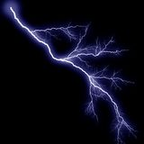Lightning More Blue Royalty Free Stock Photo