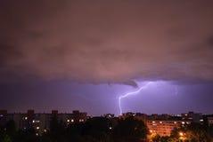 Lightning in Munich - Neuperlach Stock Images