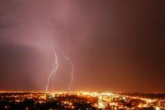 Lightning night Stock Images