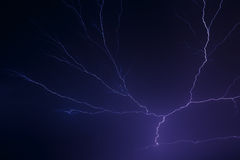 Lightning Night Stock Photos