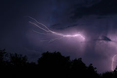 Lightning At Night Stock Photography