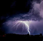 Lightning in the night sky Stock Photo