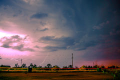 Lightning in the night sky Royalty Free Stock Images