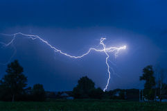 Lightning in the night sky Royalty Free Stock Image