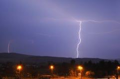 Lightning in the night sky Stock Image
