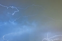 Lightning in night sky Royalty Free Stock Photography