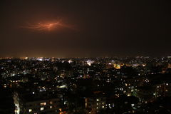 Lightning at Night sky Stock Photography