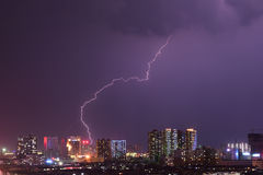Lightning. The lightning over the city Stock Photo