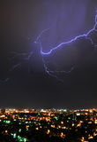 Lightning over the City Royalty Free Stock Photography