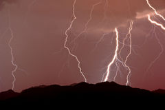 Lightning over the Estrellas Royalty Free Stock Photos