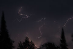 Lightning over northern Minnesota Royalty Free Stock Images