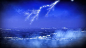 Lightning over ocean Royalty Free Stock Image