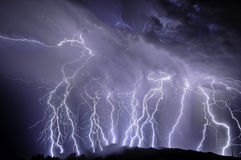 Lightning over the Rincon Mountains Royalty Free Stock Images