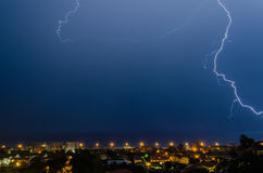 Lightning over the sea Royalty Free Stock Images