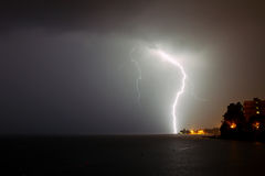 Lightning over sea Royalty Free Stock Images