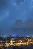 Lightning over TV Station Royalty Free Stock Photos
