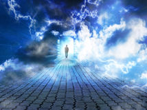 Lightning pathway Royalty Free Stock Images