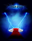 Lightning podium Royalty Free Stock Photography