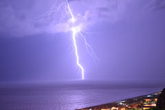Lightning in praia a mare Stock Photo