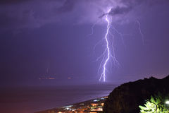 Lightning 2 in praia a mare Stock Images