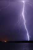 Lightning in the rain Royalty Free Stock Images